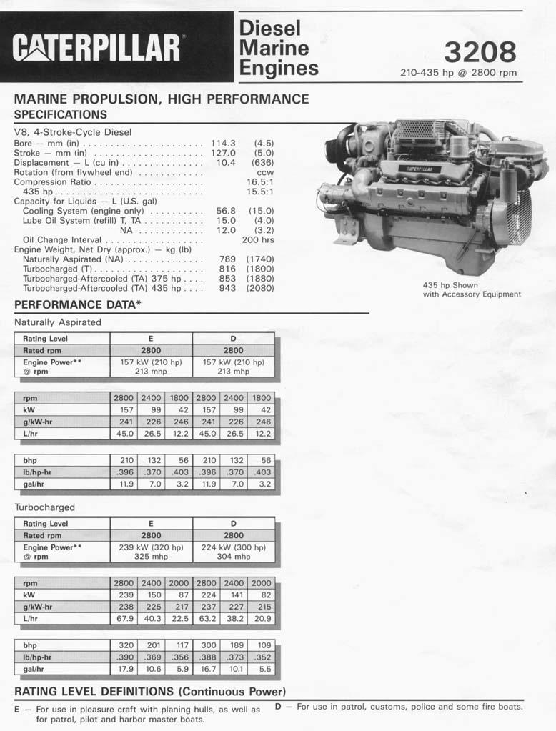3208TA RBLT MARINE ENGINE